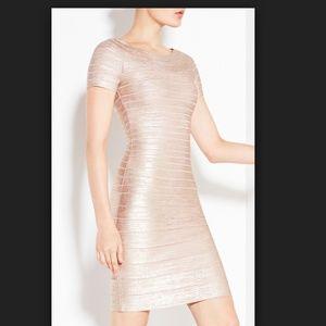 *** Stunning Herve Leger Carmen Rose Gold Dress***